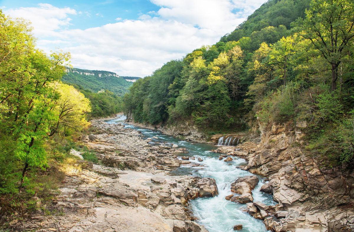 Река Белая Адыгея Гузерипль Хаджох
